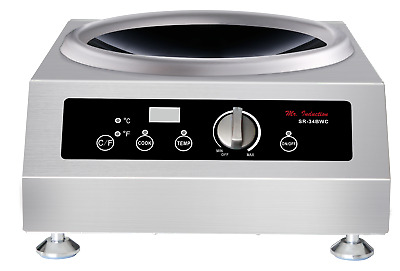 Sunpentown SPT 3400W Countertop Wok Induction Cooktop Range - SR-34BWC