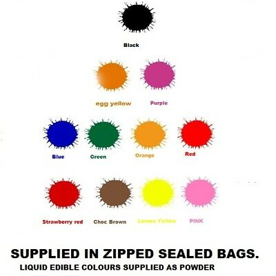 Food Colouring Powder Concentrated 20g All Colours and Black Water Soluble Color