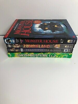Lot of 4 COMEDY/HORROR DVDs - Monster House Zombieland Transylvania Ghostbusters