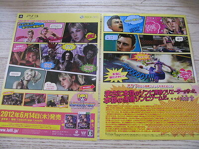 Lollipop Chainsaw Poster Chirashi Promotional Zombie Game Ps3 Xbox 360 Japan