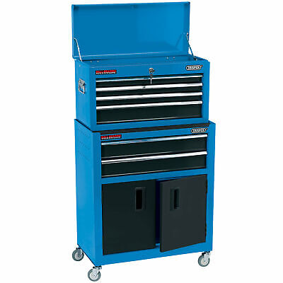 Draper 6 Drawer Combined Roller Cabinet and Tool Chest – Blue