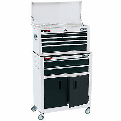 Draper 6 Drawer Combined Roller Cabinet and Tool Chest – White