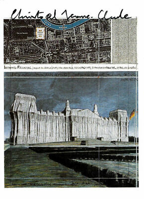 CHRISTO and Jeanne Claude REICHSTAG - original hand signed
