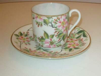 Stunning Antique  Japanese Meiji Period Hand Painted Porcelain Cup & Saucer