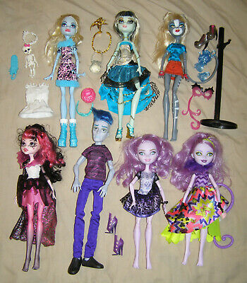 Monster High Ever After dolls x7 Frankie Draculaura Purrsephone Sloman Cheshire