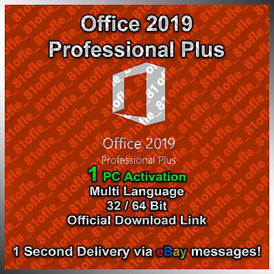Microsoft Office 2019 Professional Plus ✔️ License Key Lifetime ✔️ 30s Delivery
