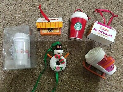 Dunkin' Donuts  Ornaments Holiday Ornament Starbucks Coffee Lot