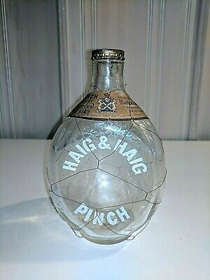 Vintage Haig's Scotch Whiskey Pinch Bottle - Advertising w/Navy Seal on label.