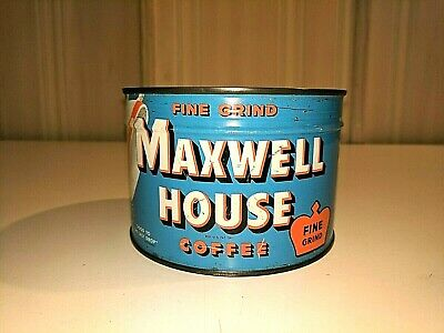 Maxwell House Coffee Unopened Keywind Tin Can with Key
