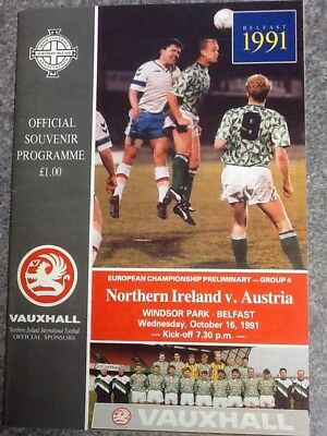 Northern Ireland v Austria - European Championship Group 4 Qualifier 16Oct91