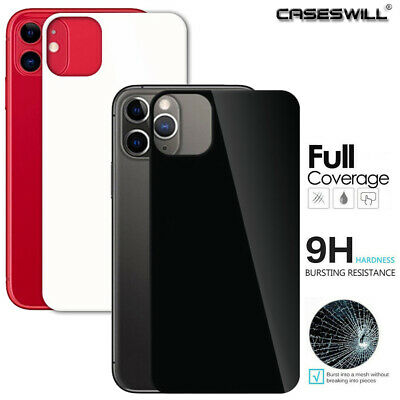 For iPhone 11 Pro Max [Full Back Coverage] 9H Tempered Glass Screen Protector