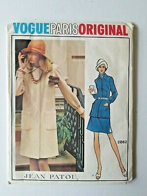 Vogue Paris Original Jean Patou 2862 Size 12 Dress Tunic Skirt Uncut Vintage