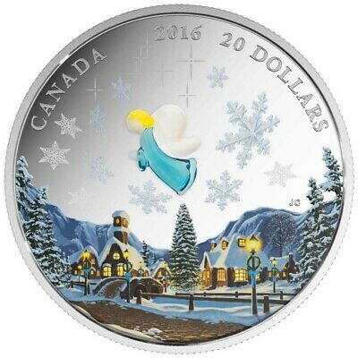 Canada 2016 $20 Venetian Glass: My Angel Pure Silver Coin Tax Exempt