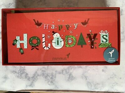 Papyrus Happy Holidays Boxed Cards. 16 Count