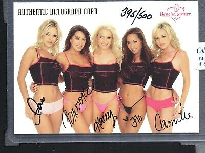 2002 Bench Warmer Case Autograph Lytle Morales Bytheway Jalin AndersonZWB 1454