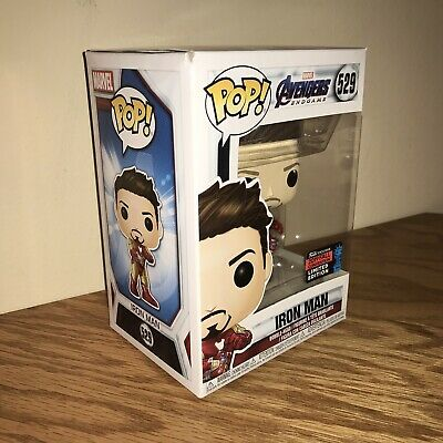 NYCC FUNKO POP Marvel Iron Man Tony Stark Gauntlet shared Exclusive Amazon •MINT