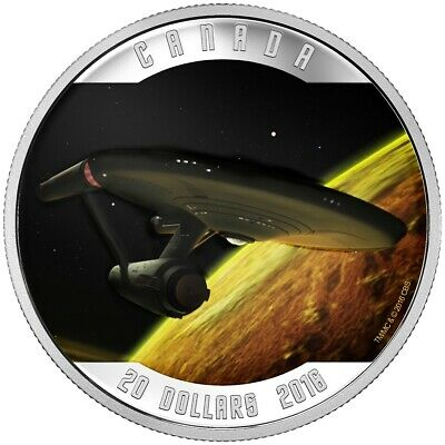 Canada 2016 $20 Star TrekTM: Enterprise Pure Silver Coin Tax Exempt