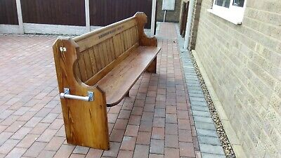 Pitched pine early 1900's modified church pew