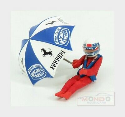 Figures Didier Pironi For Ferrari 126C2 F1 With Umbrella Red BRUMM 1:43 CH02U Mo