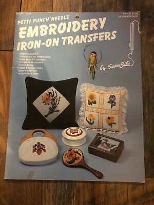 Petti Punch Needle Embroidery Iron -On Transfers