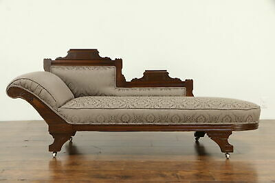 Awesome Antique Victorian Fainting Couch Late 1800S Blue Re Beatyapartments Chair Design Images Beatyapartmentscom
