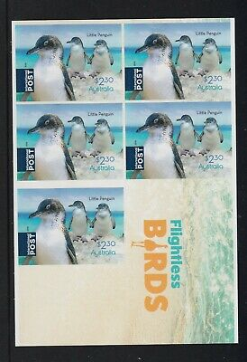 AUSTRALIA 2019 - FLIGHTLESS BIRDS $2.30 P&S Penguin MNH Complete stamp Sheetlet