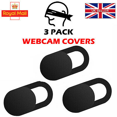 Adhesive Webcam Cover 3 PACK Thin 0.7mm Camera Laptop Mobile Tablet Macbook UK C