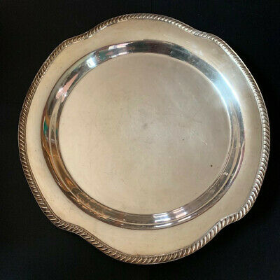 Vintage Wm. Rogers 8011 Silver Plated Round Bowl/Dish w/rope design edge~NICE!