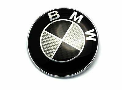 BMW 45mm Black White Carbon Steering Wheel Badge Sticker