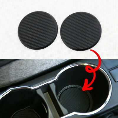 2 x Silicone Water Bottle Drink Cup Holder Pad Mat Decoration Carbon Fiber USA