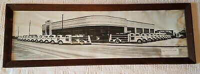 "c 1938  ROYAL CROWN COLA Delivery Fleet Trucks PANORAMIC PHOTO 28"" Soda Pop KC"