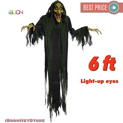 6 Ft Life size Animated Hanging Witch HALLOWEEN OUTDOOR PROP Decoration Haunted