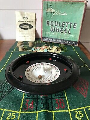 Vintage Duperite Plastics Boxed Roulette Wheel With Mat, Chips And Instructions