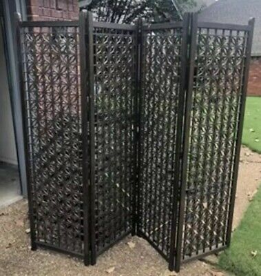 Mid Century 60's Vintage Modern Bohemian folding 4 panel room divider/screen