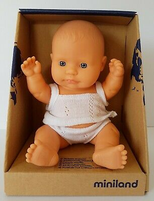 Miniland Baby Doll Caucasian Girl 21cm Vanilla Scented Anatomically Correct