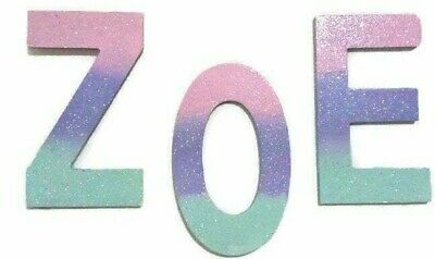 Lavender, Pink, Turquoise Custom Painted Wooden Wall Letters ~Unicorn Wall Decor