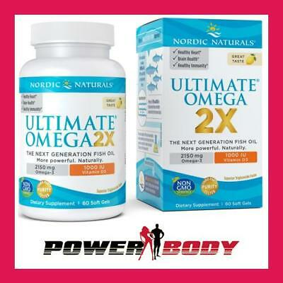 Nordic Naturals - Ultimate Omega 2X with Vitamin D3, 2150mg Lemon - 60 softgels