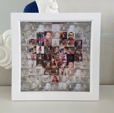 Personalised box frame photo collage heart gift friend family unique gift xmas