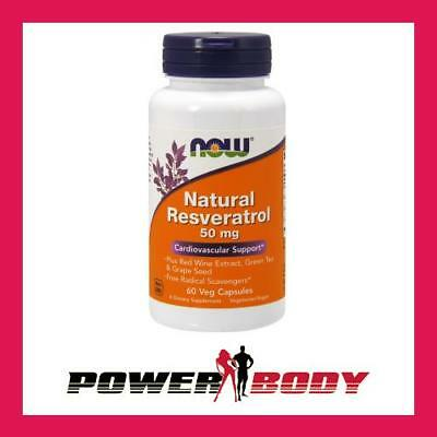 NOW Foods-Natural Resveratrol with RedWineExtract,GreenTea&GrapeSeed,50mg-60caps