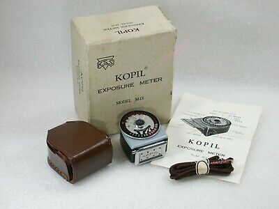 Vintage KOPIL Exposure Meter, Model M-IX + Leather Case, Box & Instructions
