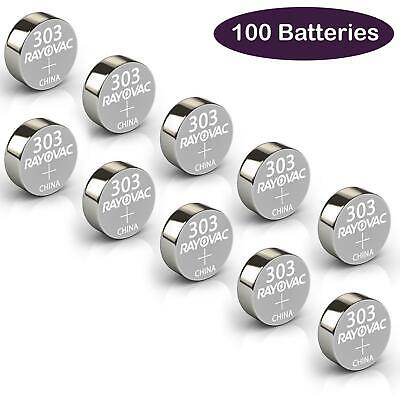 100x Rayovac Cell Batteries 303 Watch Battery Car Coin Cell Expiry November 2019