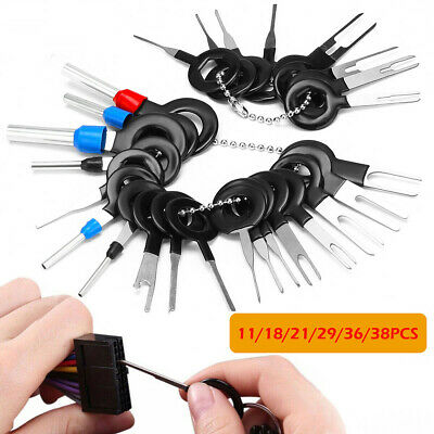 38Pcs Car Terminal Removal Tool Wire Plug Connector Extractor Puller Release Pin