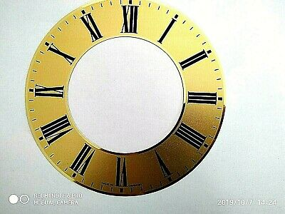 15.5cm Vintage Clock Dial Face metal Patterns Roman Numerals Wall NEW