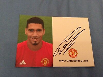 Chris Smalling (Manchester United) Signed Club Card