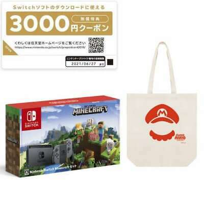 Nintendo Switch Minecraft set Super Mario Tote Bag [Game console] from Japan