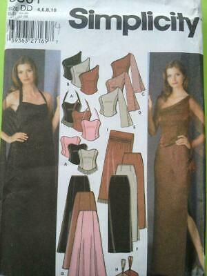 Simplicity 5301  Misses, Ladies, Evening Tops, Slim And Flared Skirts, Shawl