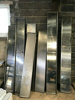 Job Lot Of Stainless Steel Kitchen Catering Restaurant Shelving & Brackets X8