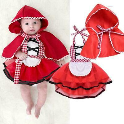 Red Newborn Baby Girl Tutu Skirt Photo Prop Costume+Cape Set Outfit Cloak P8H6
