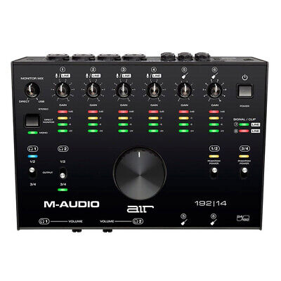 M-Audio AIR 192 14 8-In 4-Out 24/192kHz USB Audio MIDI Interface