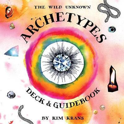 Wild Unknown Archetypes Deck and Guidebook by Kim Krans Hardcover Book Free Ship